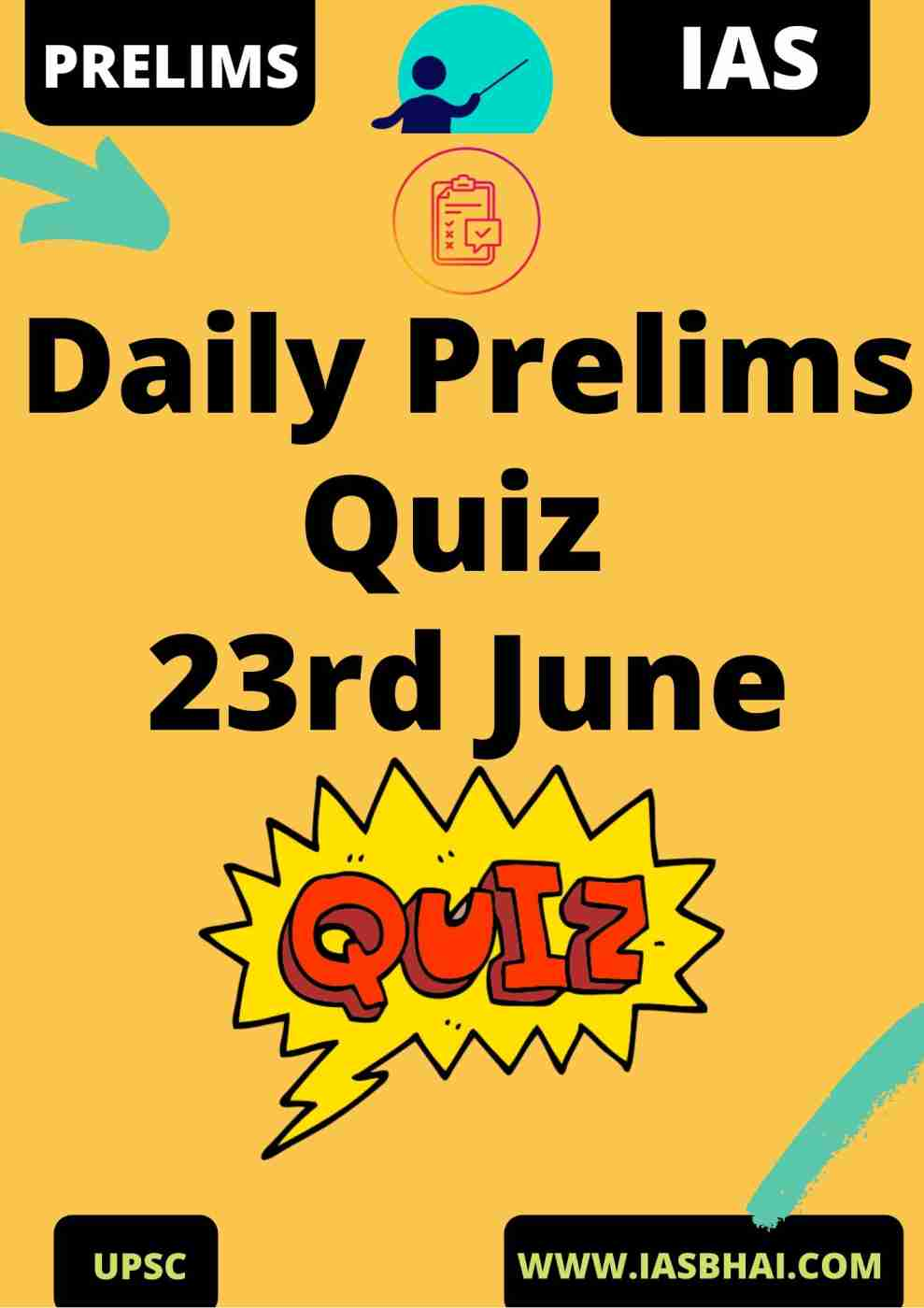 Daily Prelims Quiz 23rd June