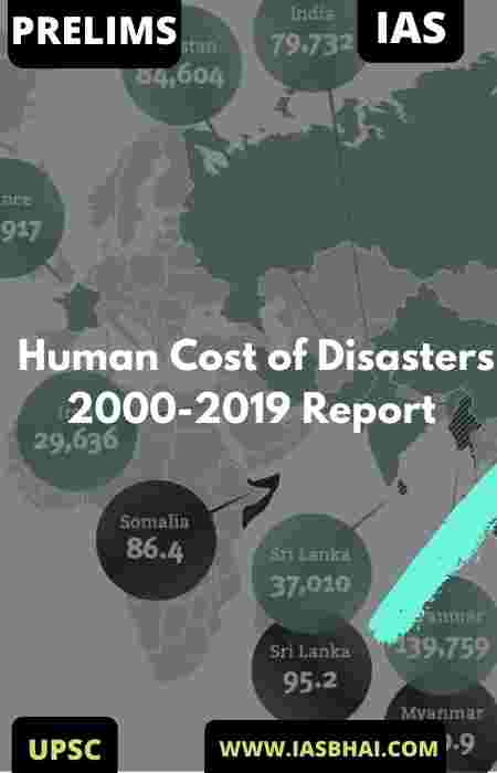 Human Cost of Disasters 2000-2019 Report | UPSC