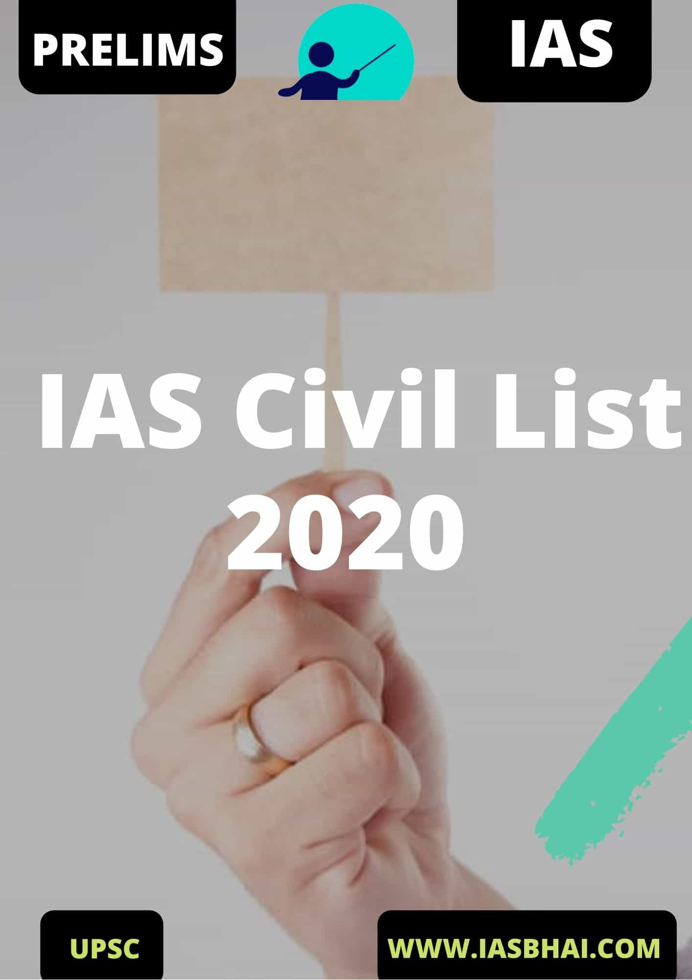 IAS Civil List 2020 UPSC IAS