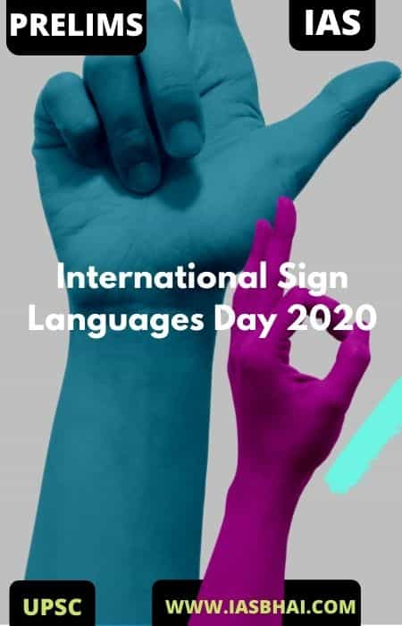 International Sign Languages Day 2020 | UPSC