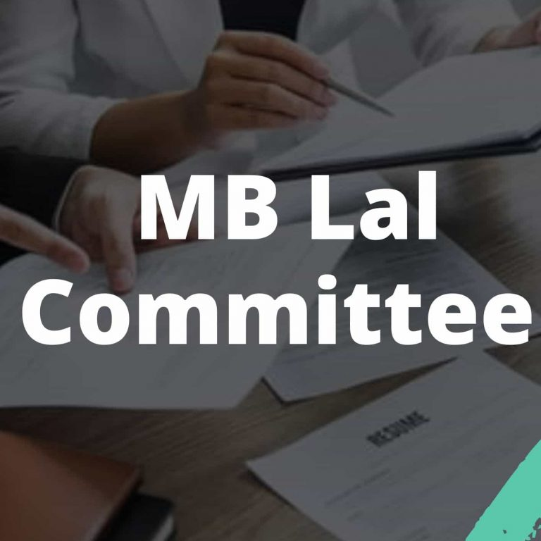 MB Lal Committee UPSC