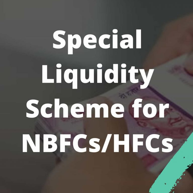Special Liquidity Scheme for NBFCs_HFCs UPSC