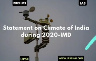 Statement on Climate of India during 2020-IMD | UPSC