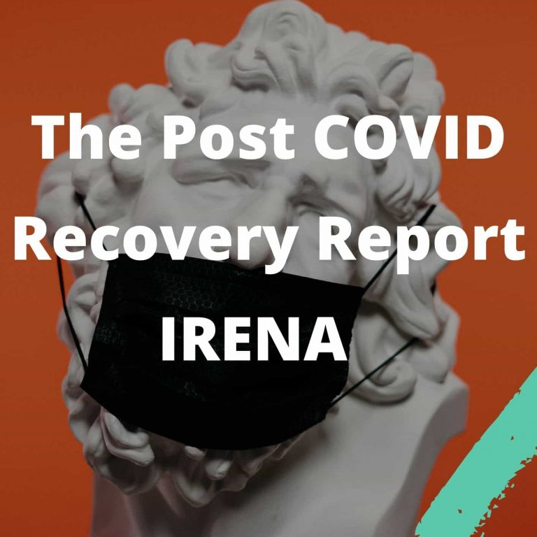 The Post COVID Recovery Report IRENA UPSC IAS