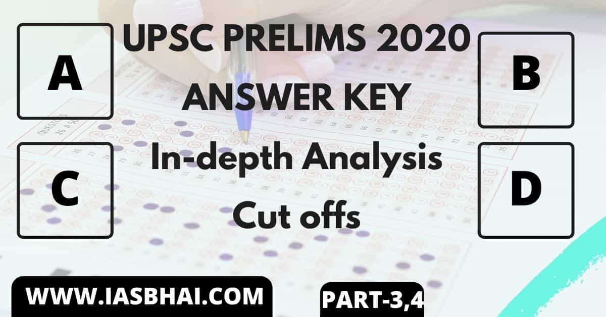 IAS PRELIMS 2020 Answer Key