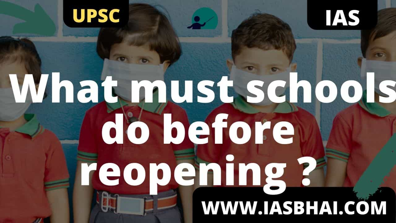 What must schools do before reopening UPSC